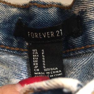 Forever 21 Shorts - Forever 21 Denim Washed High Waisted Shorts